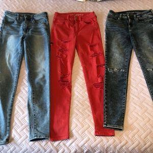 American Eagle Jeans. All Size 2. Bundle.